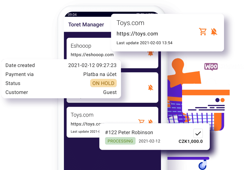 Toret WooCommerce Manager Preview