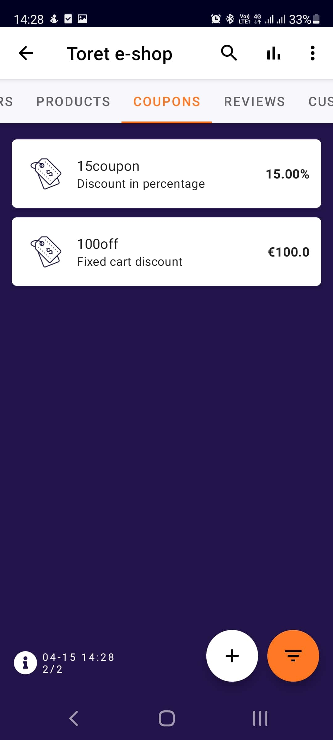 Toret WooCommerce Manager - Coupon Overview (Light Mode)