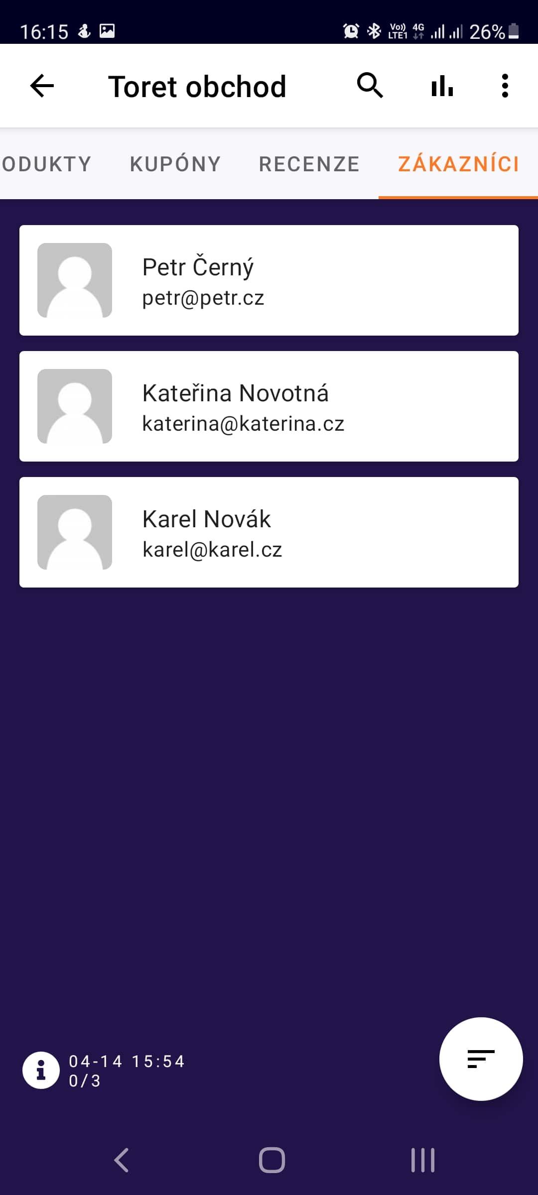 Toret WooCommerce Manager - přehled zákazníků (Světlý režim)